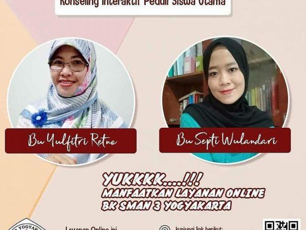 Layanan Online BK SMA Negeri 3 Yogyakarta KONTAKPADMA (Konseling Interaktif Peduli Siswa Utama)